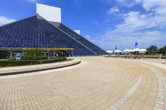 Widok rock and roll muzeum, Ohio, usa Zdjęcie Stock