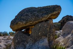Widok rockowe formacje w Phrygian dolinie Obraz Stock
