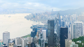 Widok środkowy Hong Kong fotografia stock