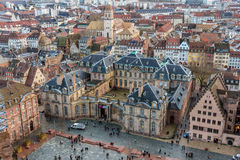 Widok Rohan pałac w Strasburg, Alsace -, Francja Zdjęcia Stock