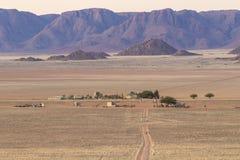 Widok Rolne Gunsbewys i Tiras góry w południowym Namibia Zdjęcie Royalty Free
