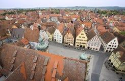 Widok Rothenburg ob dera Tauber, Niemcy Zdjęcie Royalty Free