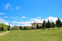 Widok Rozhen monaster zdjęcie stock
