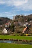 widok ruine grodowy stary streitburg zdjęcie stock