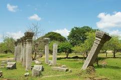 Widok ruiny Święty miasto w Anuradhapura, Sri Lanka Zdjęcia Royalty Free