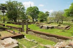 Widok ruiny Święty miasto w Anuradhapura, Sri Lanka Obrazy Stock