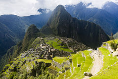 Widok ruiny Mach Picchu Obrazy Royalty Free
