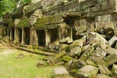 Widok ruiny Ta Prohm świątynia w Siem Przeprowadza żniwa, Kambodża Fotografia Stock