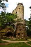 Widok ruiny ValeÄ  ov kasztelu ruiny Obrazy Stock