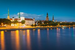 Widok Ryski, Latvia zdjęcia stock