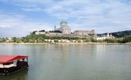 Widok Rzeczny Danube w Esztergom Węgry zdjęcie royalty free