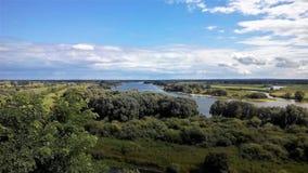 Widok rzeczny Elbe blisko Boizenburg Obrazy Royalty Free