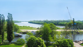 Widok rzeczny port w Chernihiv Fotografia Stock