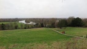 Widok Rzeczny Thames w Richmond zdjęcia stock