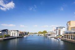 Widok Rzeczny Thames z budynkami obraz stock