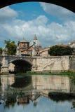 Widok rzeczny Tiber w Rzym zdjęcie stock