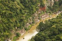 WIDOK rzeka NA jar podłodze zdjęcie stock