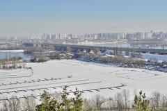 Widok rzeka Zaporoska obraz royalty free