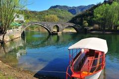 Widok rzymski most w Rieka zdjęcie stock