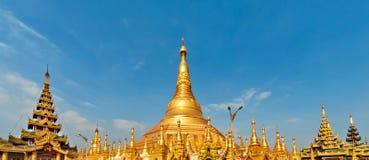 Widok sławny Myanmar pagodowy Shwedagon w Yangon Obraz Stock