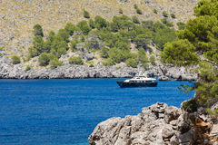 Widok Sa Calobra zatoka w Mallorca Zdjęcia Royalty Free