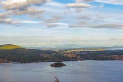 Widok Saanich wpust od Malahat szczytu w Vancouver wyspie, Kanada zdjęcie royalty free