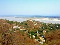 Widok Sagaing wzgórze obrazy stock