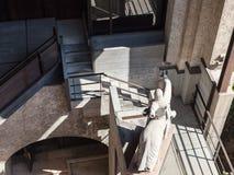 Widok sala w muzeum castelvecchio kasztel Obraz Royalty Free