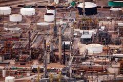Widok Salt Lake miasta rafinerie ropy naftowej podczas dnia Fotografia Stock
