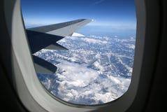 widok samolotowy skrzydło Zdjęcia Royalty Free