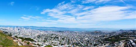 Widok San Fransisco od Bliźniaczych szczytów obraz royalty free