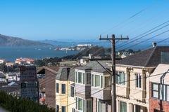 Widok San Fransisco zatoka od above Zdjęcie Royalty Free