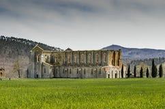 Widok San Galgano opactwo - Włochy zdjęcie royalty free