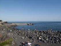 Widok San Giovanni Li Cuti plaża Zdjęcie Stock