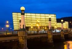 Widok Sant Sebastian Kursaal Kongresowy Centre zdjęcie stock
