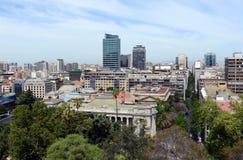 Widok Santiago od góry Santa Lucia fotografia stock