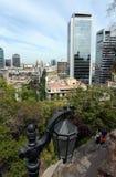 Widok Santiago od góry Santa Lucia zdjęcia stock