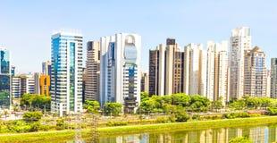 Widok Sao Paulo i rzeka Fotografia Stock