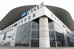Widok SAP arena w Mannheim, Niemcy Obrazy Royalty Free