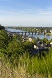 Widok Saumur miasto, Francja obrazy royalty free