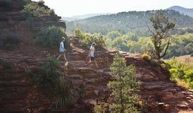 Widok Sławny katedry skały ślad Zdjęcie Royalty Free