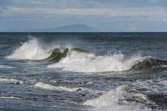Widok sceniczna błękitna ocean fala obraz royalty free