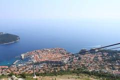 Widok schronienie Dubrovnik od wzrosta linowy lifter komunalne jeden Moscow panoramiczny widok zdjęcie royalty free