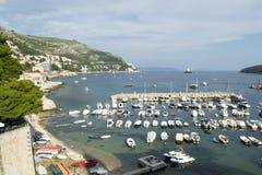 Widok schronienie Dubrovnik (Stary miasteczko) Zdjęcie Royalty Free