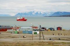 Widok schronienie Longyearbyen, Norwegia Zdjęcia Stock