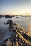 Widok seascapes podczas wschodu słońca w natura składzie Zdjęcia Stock