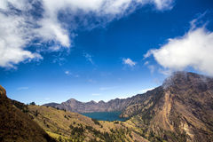 Widok Segara Anak jezioro Obrazy Royalty Free