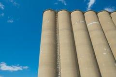 Widok sekcja zbożowa winda, agrarny łatwości comple fotografia stock
