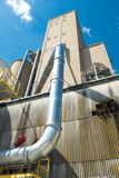 Widok sekcja zbożowa winda, agrarny łatwości comple fotografia royalty free