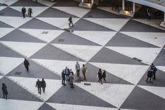 Widok Sergels torg od kultura domu, Kulturhuset, Sztokholm, Szwecja obrazy stock